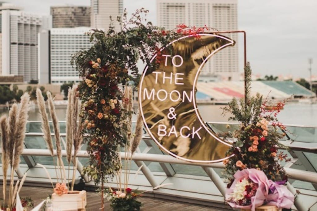 Neon sign wedding decor by Say it in neon