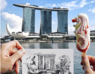 Leeu SG Merlion Ice Pop